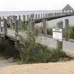 Long dock for crabbing
