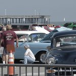 Old cars at boardwalk (Columbus Day weekend)
