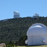 Some of the telescopes at McDonald's Observatory.