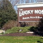 front sign for The Lucky Monk