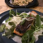 Grilled salmon with shaved fennel