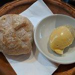 Fresh ciabatta roll, whipped brown butter