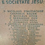 The marble slab with inscription of (RESURRECTION waiting for the Society of Jesus.