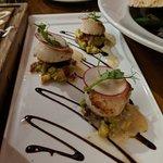 Pan-seared Atlantic scallops