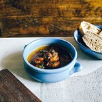 Drunken Sailors: local prawns swimming in a prawn gravy, with a side of sourdough bread