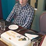 Jonathan and 18th Birthday Cake.