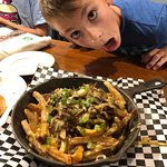 The short rib poutine fries. Jakes face says it all.