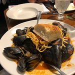 Mussels over linguini. Food so good, entire table of 4 adults 5 children fell silent for 20 minu