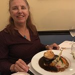Debra with Beef Wellington.