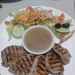 Grilled Pork Tenderloin with Mixed Salad
