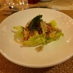 Salmon salad by Chief de Cuisine Maria Wang