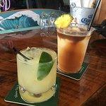 beautiful drinks at the bar