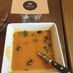 Pumpkin Soup with roasted pumpkin seeds!