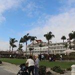 The view from the beach/boardwalk at Hotel Del Coronado.