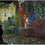 The Gustav Klimt exhibit at the new digital art centre Atelier des Lumières in Paris, France