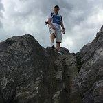 top of boulder on Massie trail