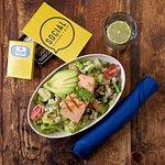 Chop-Chop Salad with added Salmon