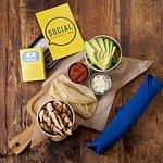 Deconstructed Taco Board (Ranchero chicken, avocado, salsa, cotija cheese and warm corn tortilla