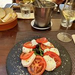 Tomato and mozzerella salad