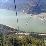 view from the gondola on the way to the summit