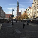 Walking street in Gdańsk Old Town, walk slowly and enjoy.