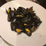 Lovely Buratta and Mussels with white wine sauce. If your looking for fine dine food with good q