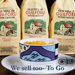 We sell as well The Old Mill of Guilford Grits, Sweet Potato Muffin Mix, Ginger Bread Mix