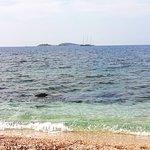 Quiet beach at a blue sea