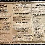 Menu from Where Pigs Fly