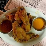 Naked wings with sauce on the side? Novel approach...