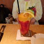 A mango fruity drink