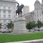 Edward statue on Pierhead