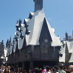 Hogsmeade snow capped roofs