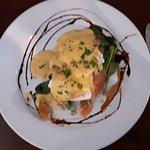My Eggs Benedict beautifully presented