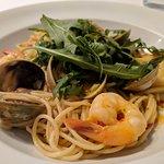 Prawn and clam spaghetti