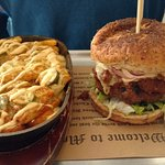 Django burger and cheese jalapeno fries
