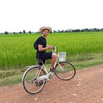 Bike to see rice field.
