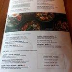 lunch specials menu page