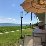 Highland Beach Outside Patio Dining Overlooking Ocean