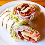 California Wrap with provolone cheese, ham and turkey