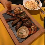 Mixed grilled lamb, beef, chicken