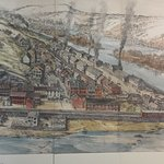 Painting of old Harper's Ferry as a Federal Arsenal