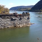 Old Bridge Abutment in Potomac River at Harper's Ferry