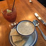 Clam Chowda and Bloody Mary, nice combo