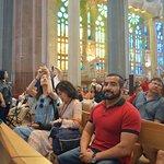 Dentro de la Sagrada Familia