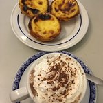 The egg custard tarts; delicious!