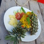 Pineapple Dish with rice and Chicken