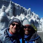 Permanent ice clacer at Uhuru Peak