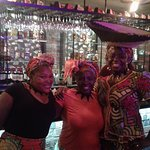The lovely ladies who not only serve, but sing and dance as well!