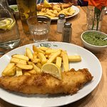 Line caught haddock and chips